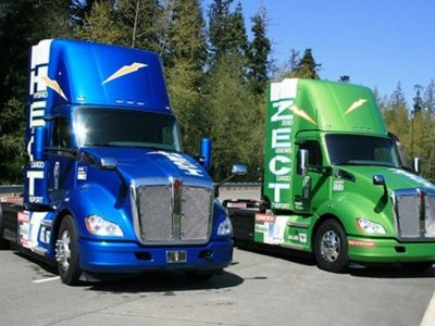 Kenworth fights against air pollution. The new hybrid truck has a range of 280 miles
