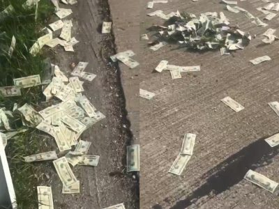 Net 600 tūkst. dolerių išskrido iš sunkvežimio. Vairuotojas nesupranta, kaip tai galėjo įvykti.