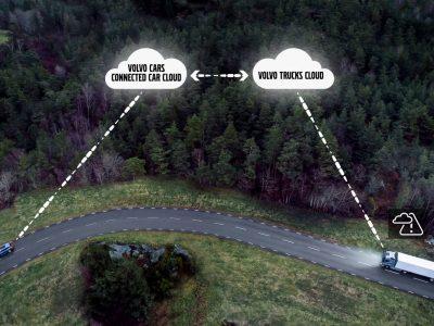 Sunkvežimiai ir automobiliai perspės vieni kitus apie pavojus kelyje