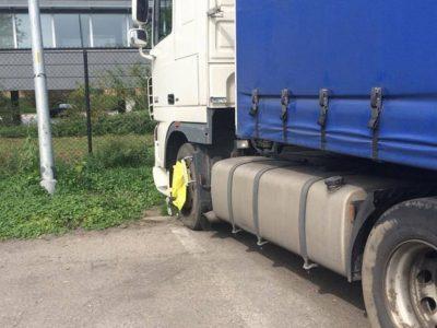 Laikinas sunkvežimių konfiskavimas už 45 val. poilsį kabinoje