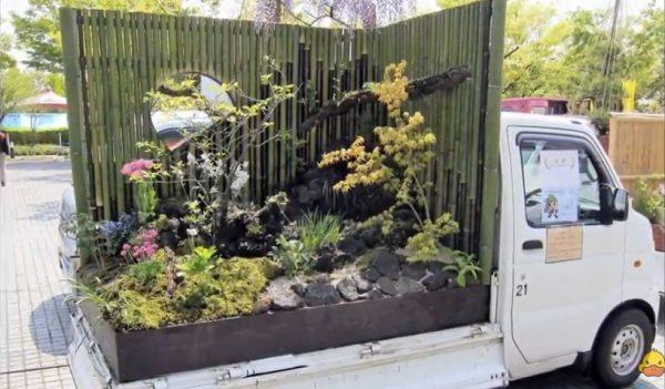 Japończycy zakładają ogrody… na platformach ciężarówek