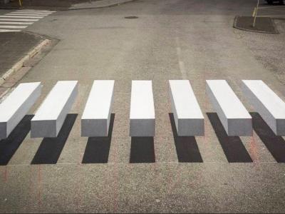 Erster 3D-Zebrastreifen in Spanien