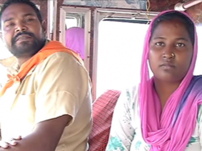 Indian woman learned to drive a truck to spend more time with her husband