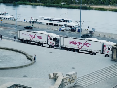 An unusual engagement of a trucker