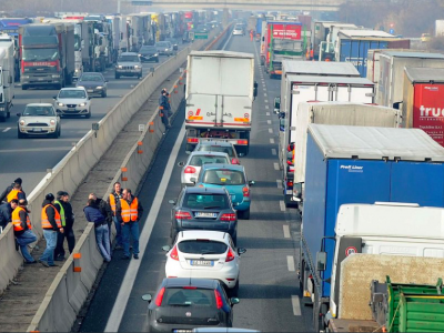 Today Dutch drivers are protesting against new EU regulations