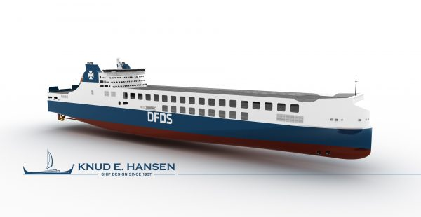 New ferry for DFDS will carry 450 trailers