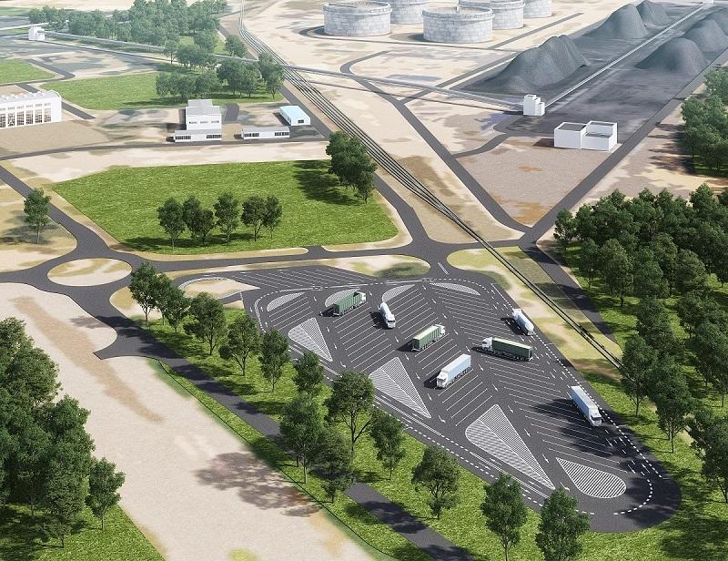 Jeszcze w tym roku zakończy się budowa pierwszego buforowego parkingu dla ciężarówek w Porcie Gdańsk. Parking o powierzchni 1 ha pomieści 63 trucki i powstanie u zbiegu ul. Śnieżnej i Handlowej. Miejsca parkingowe będą ogrodzone i wyposażone w szlabany. Kierowcy do dyspozycji będą mieli kontener sanitarny z toaletami i prysznicami. Wartość tej inwestycji to 5,5 mln zł. Fot. ZMPG