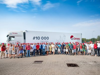 Girteka welcomes its 10,000th driver on board and announces employment of a further 10,000