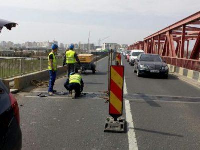 Podul de la Mărăcineni se redeschide pe 30 august