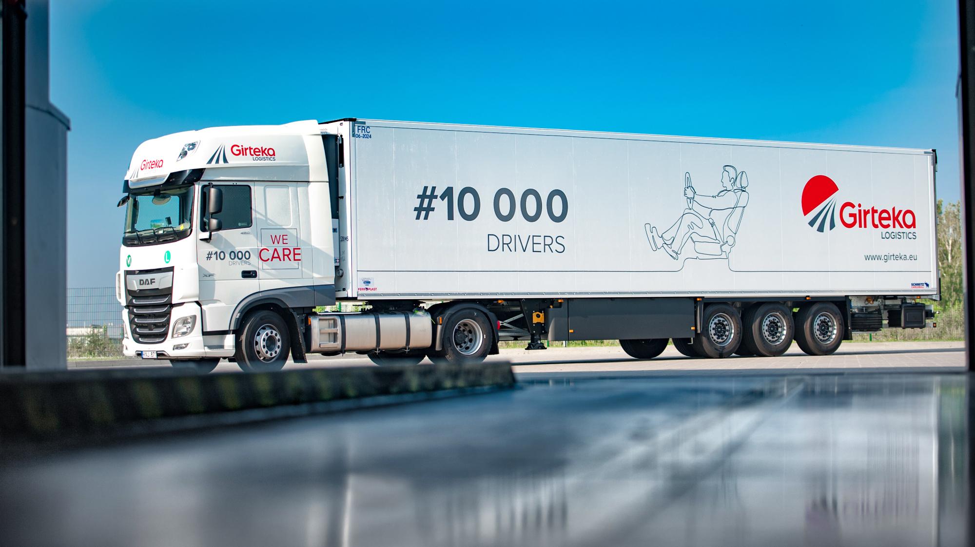 Girteka zatrudnia 10-tysięcznego kierowcę i planuje wkrótce podwoić tę liczbę