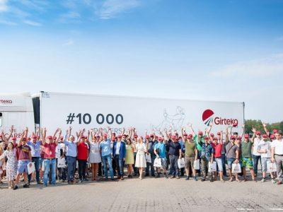 Girteka a anunțat că a depășit pragul de 10 000 de șoferi angajați