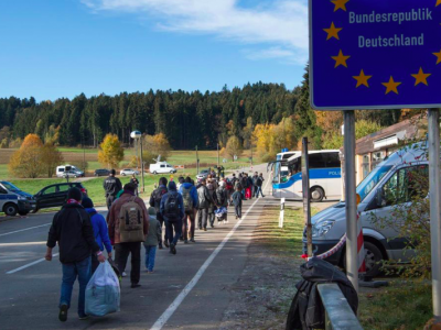 Eight immigrants already got a trucker's job in Germany. More are training for the profession
