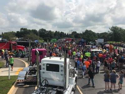 Over 180 trucks celebrated ill boy's birthday. A true gift from the heart