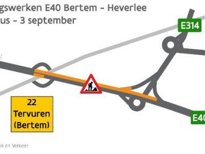 Дорожные работы на автомагистрали E40 в сторону порта в Кале