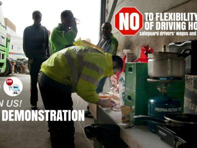 """Az európai dolgozók szakszervezete kimutatta a foga fehérjét . Nem aggódnak az """"elnyomott"""" járművezetőkért."""