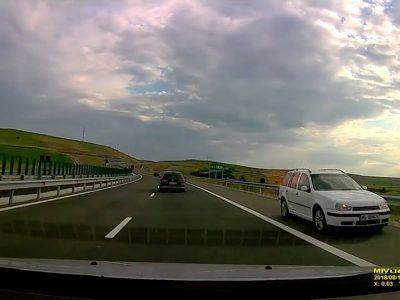 Atenție șoferi: Pe noua autostradă A10 Sebeș-Turda au fost filmate deja două cazuri de circulație pe contrasens.