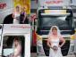Sunkvežimio vairuotoja įvykdė savo svajonę. Į vestuves nuvyko sunkvežimiu
