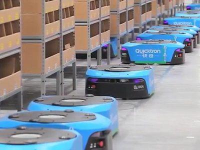 Roboții folosiți de Alibaba în depozite reduc implicarea umană cu 70%