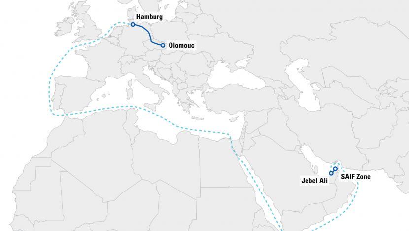transport intermodalny ze Zjednoczonych Emiratów Arabskich