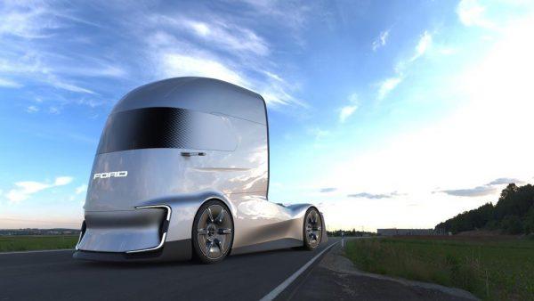 Ford prezentuje ciężarówkę przyszłości. Kabina F-Vision niczym głowa Robocopa