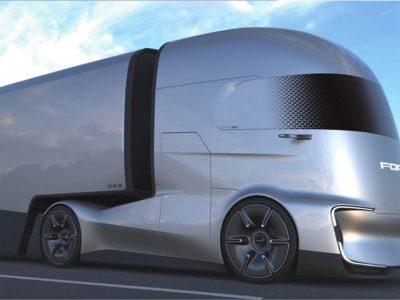 Az F-Vision már akcióban. A Ford bemutatta az első filmjét a futurisztikus teherautójáról