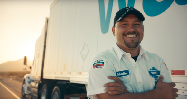 Lack of drivers is also a big problem in the USA. Commercial giant appeals to truckers with a cheesy
