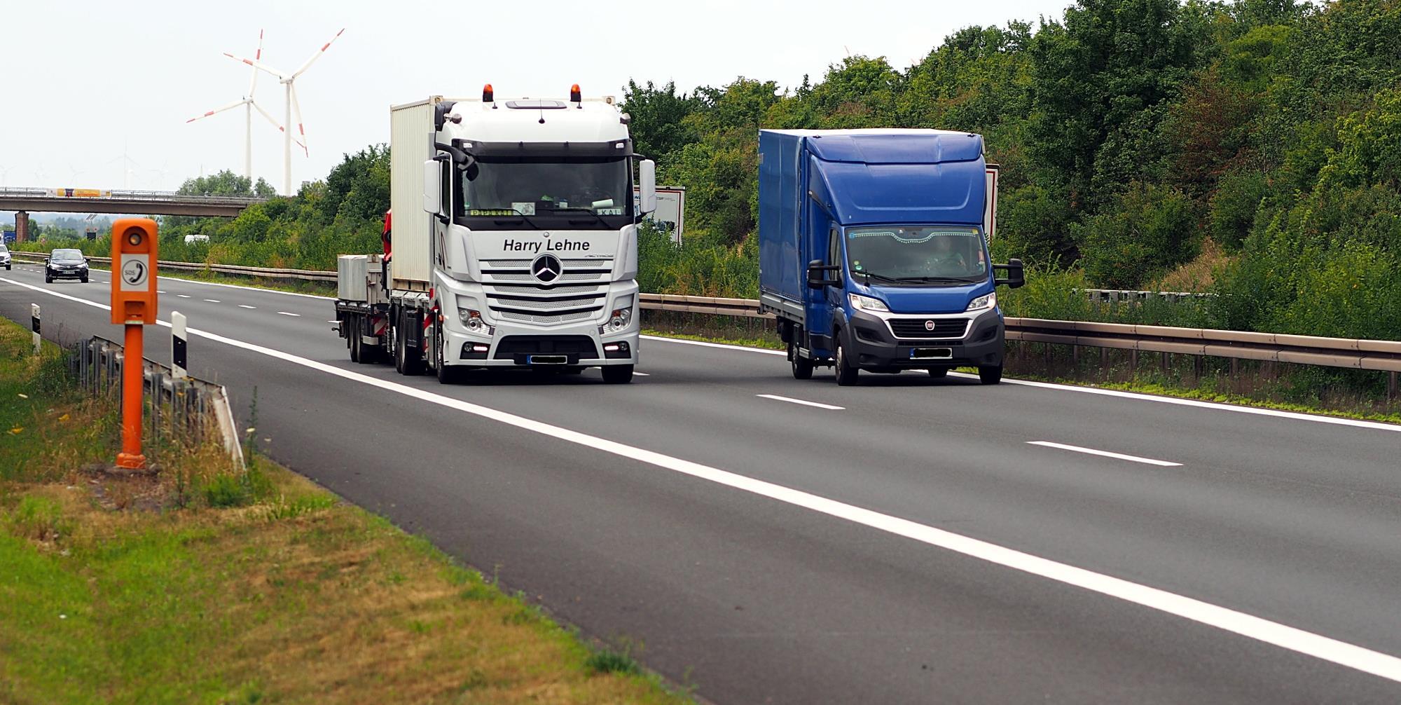 Should vans be under the same regulations as lorries? German