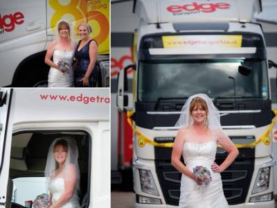 Дальнобойщица исполнила свою мечту. На свое бракосочетание она поехала на грузовике