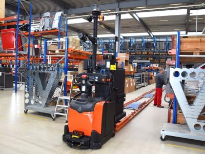 Logistics 4.0 in practice. The use of automated forklifts reduced the number of accidents by 50 percent