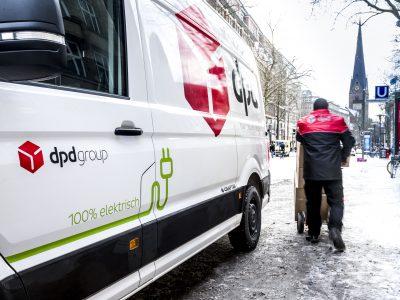Emissionsfreie Paketzustellung: DPD setzt in der gesamten Hamburger City auf E-Mobilität