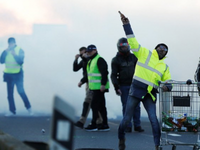 Protests in France against increases in fuel taxes left hundreds injured