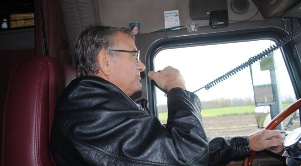 Cancer-stricken trucker made his last wish come true. He led a convoy of 61 trucks