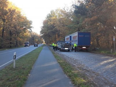 Berauschter LKW-Fahrer ohne Fahrerlaubnis