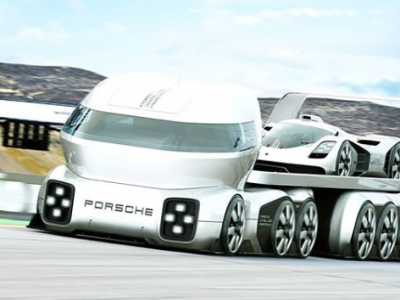 GT Vision, or space cab and massive wheels. Will future trucks look like this?