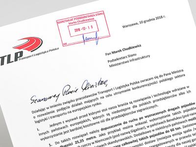TLP: apelujemy do rządu o podjęcie szeregu inicjatyw, które poprawiłyby konkurencyjność polskiego transportu