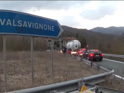 Eismo apribojimai Toskanoje. Uždarytas E45 viadukas Europos trasoje Italijoje