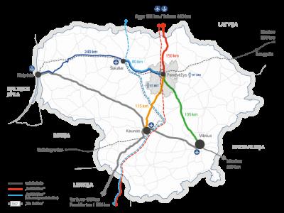 Naujos transporto jungtys Lietuvoje. Tikslas – šalies verslo plėtra ir logistikos potencialo didinimas