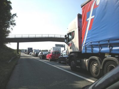 """UK authorities are """"rehearsing"""" Brexit. 89 trucks travelled to Dover to test the emergency traffic system"""