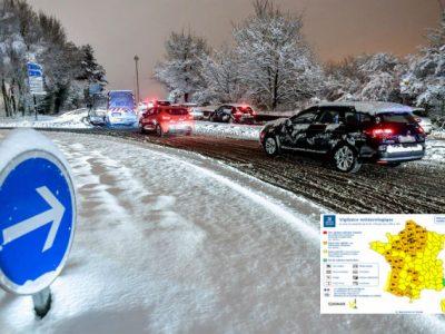 Restricții majore de trafic în Franța cauzate de furtuna Gabriel