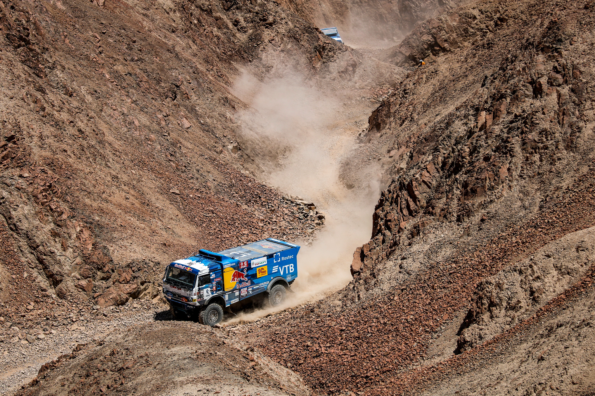 500 NIKOLAEV Eduard (rus); IAKOVLEV Evgenii (rus); RYBAKOV Vladimir (rus); Kamaz; Kamaz - Master; Truck; Camion; action during the Dakar 2019; Stage 7; San Juan de Marcona - San Juan de Marcona; peru; on january 14 - Photo Florent Gooden / DPPI