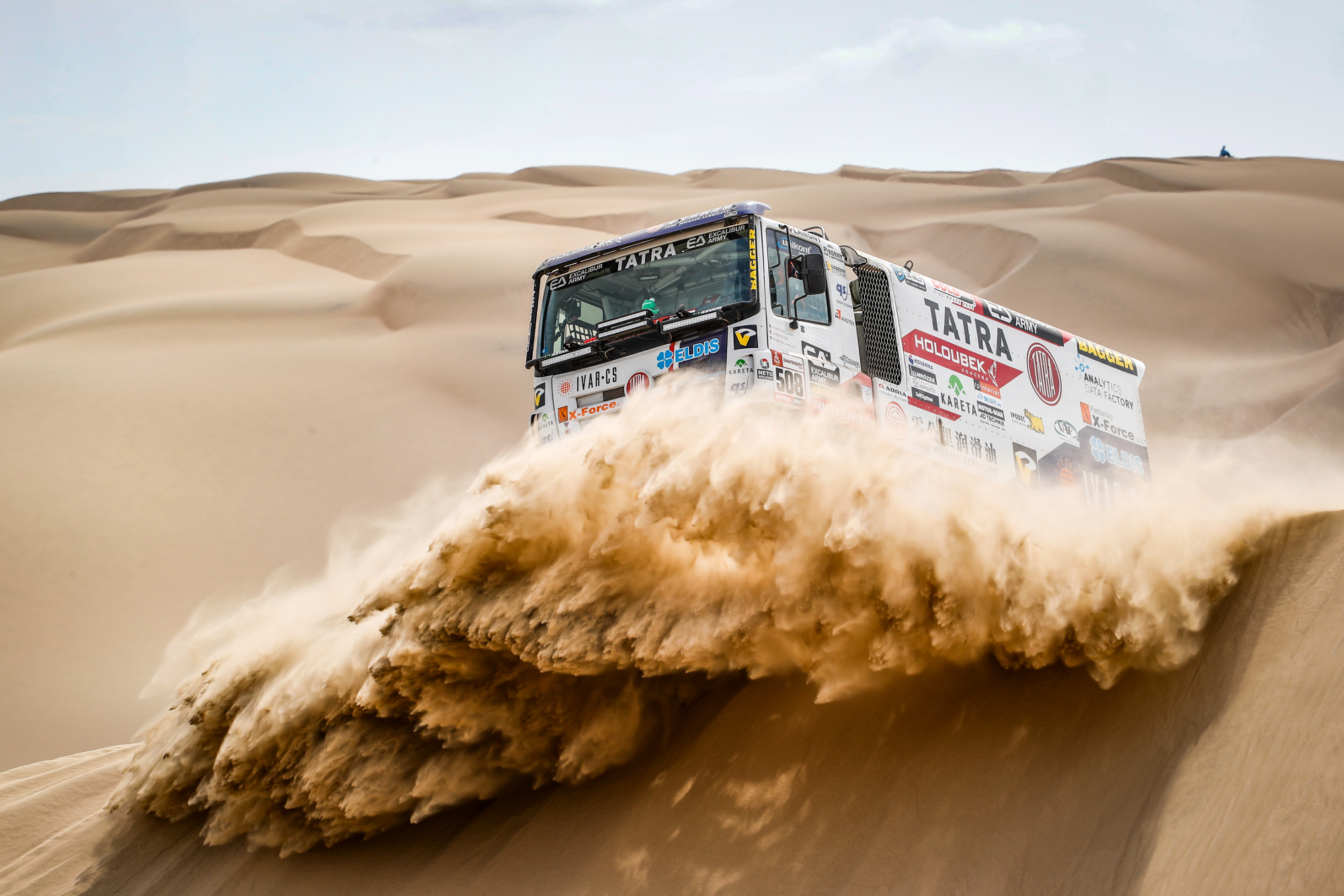 508 KOLOMY Martin (cze); STROSS Jiri (cze); PLNY Rostislav (cze); Tatra; Tatra Buggyra Racing; Truck; Camion; action during the Dakar 2019; Stage 1 Lima to Pisco; peru; on january 7 - Photo Frederic Le Floc'h / DPPI