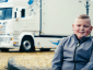 9-year-old records a song about truckers to celebrate their work