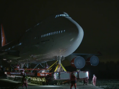 Unusual transport of a Jumbo Jet. See how this journey looked like in the videos