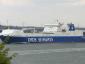 450 trailer fér el a DFDS új megakompján