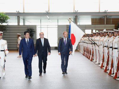 """Įsigalioja Japonijos ir ES sutartis. Naujos transporto rinkos atvėrimas ir alternatyva kieto """"Brexito"""" atveju"""