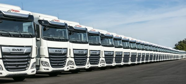 Girteka tests gas-powered trucks. The result? Fuel costs reduced by 20%.