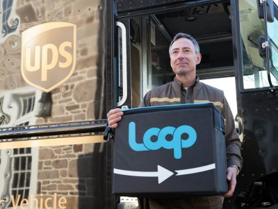 Loop, or reusable packaging. This is how UPS will transport goods