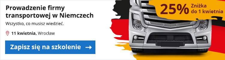 Baner szkolenie zniżka firma w Niemczach