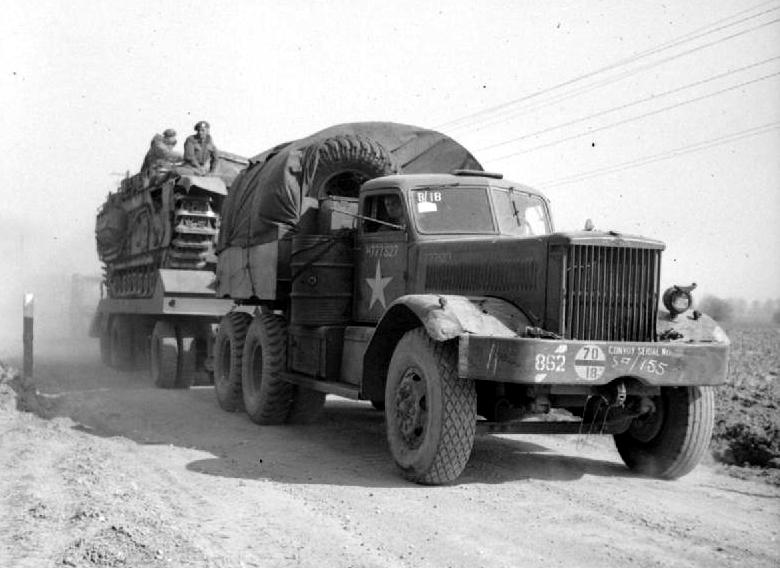Amerykańska ciężarówka Diamond T podczas II wojny światowej
