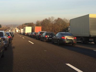 Thousands of euros of fines for lack of emergency corridor after accident on German motorway